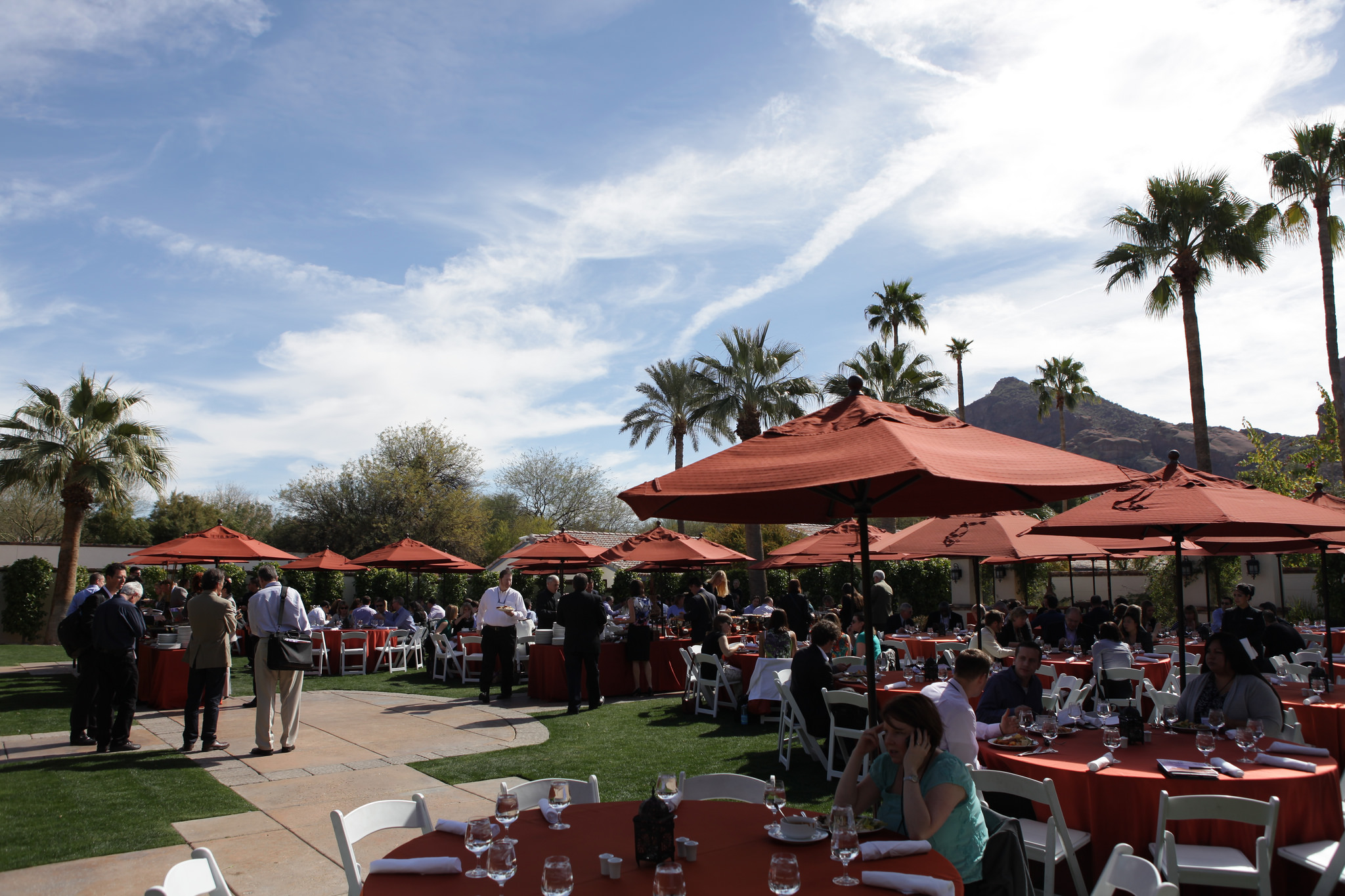 Courtyard at Lunchtime at GreenBiz