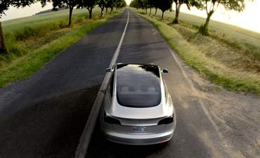 EV on a country road