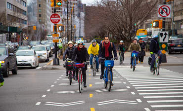 Bicyclists in New York City