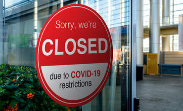 COVID-19, closed storefront