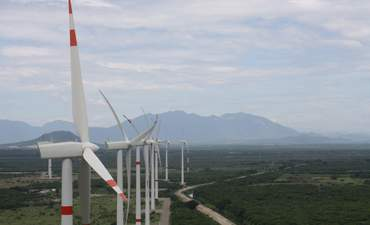 Photo by Enel at its wind farm in Oaxaca, Mexico