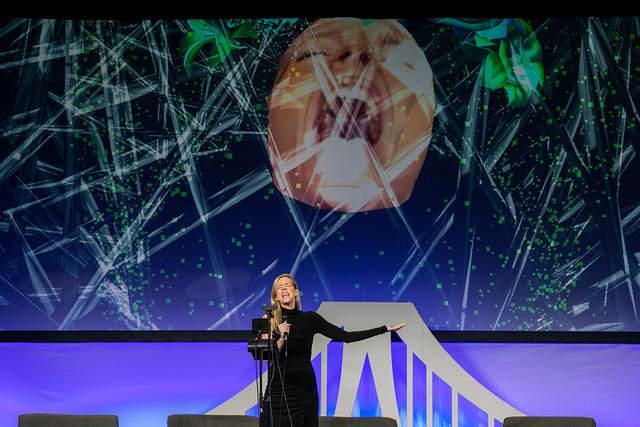 woman singing on VERGE Stage